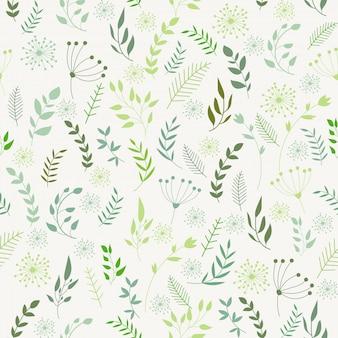 Papel de parede sem costura padrão floral vetor impressão infinita.