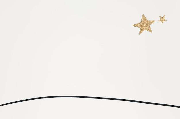 Papel de parede simples com estrelas de ouro brilhantes e vetoriais para crianças
