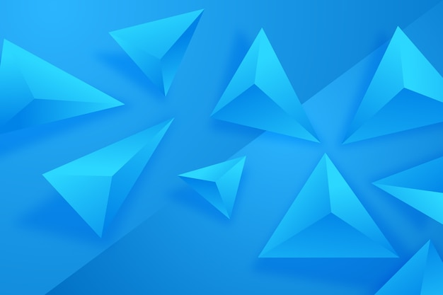 Papel de parede triângulo azul 3d