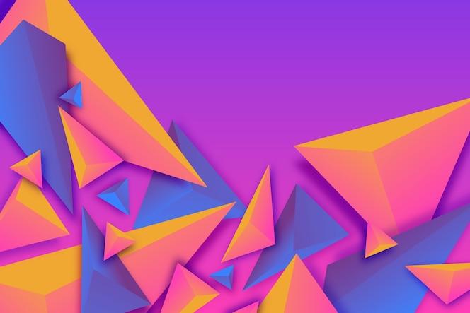 Papel de parede triângulo colorido 3d