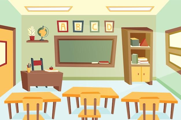 Papel de parede vazio da aula da escola para videoconferência