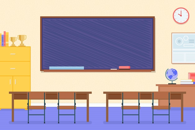 Papel de parede vazio da classe escolar para videoconferência
