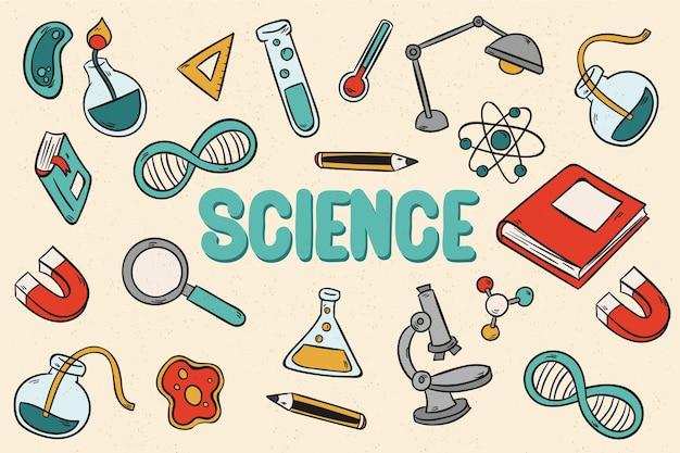 Papel de parede vintage educação científica