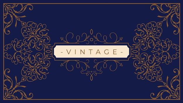 Papel de parede vintage ornamental