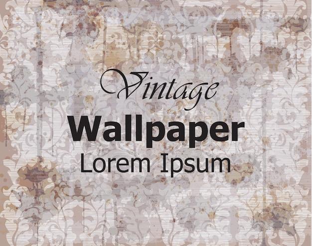 Papel de parede vintage ornamento real
