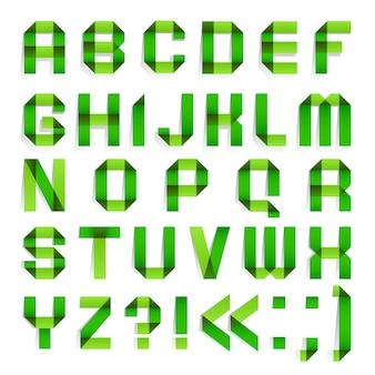 Papel dobrado alfabeto