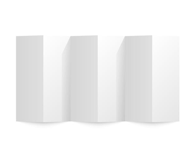 Papel dobrado em um fundo branco. ilustração vetorial