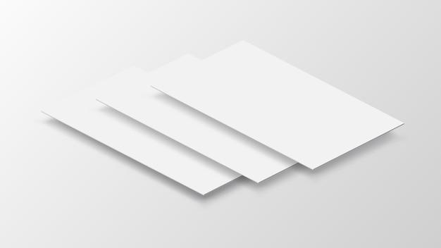 Papel em branco sobre fundo cinzento
