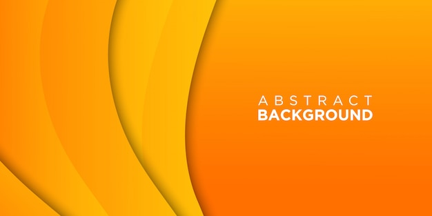 Papel laranja cortado fundo 3d