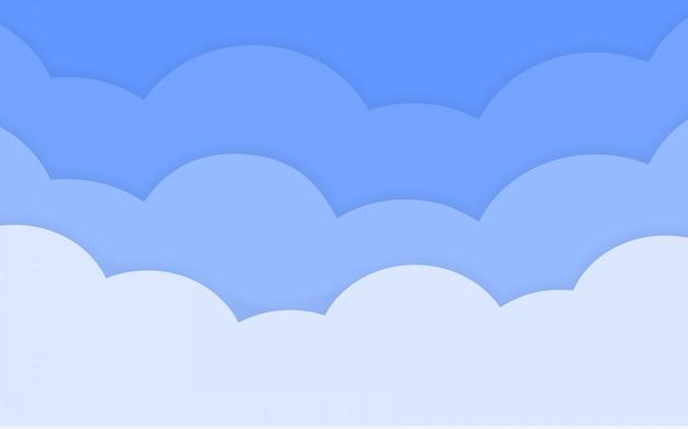 Papel limpo, corte o fundo da nuvem