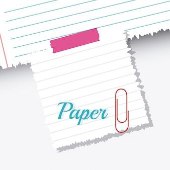 Papel, notas e folhas