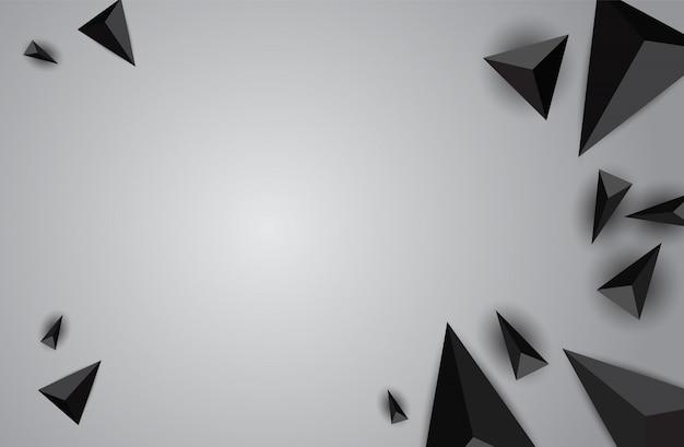 Papel origami poligonal forma de fundo vector.