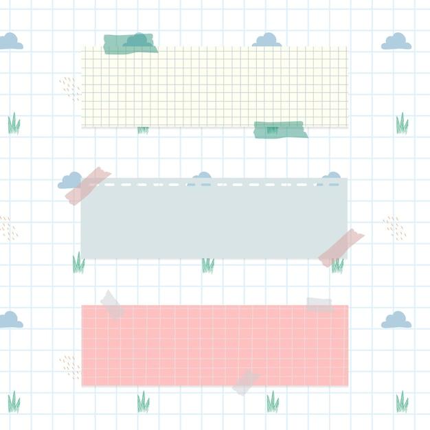 Papel para notas pastel em fundo de nuvem