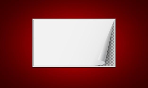 Papel pergaminho branco em um transparente.