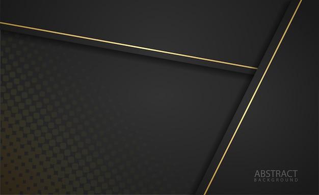 Papel preto cortado fundo com sotaque de ouro