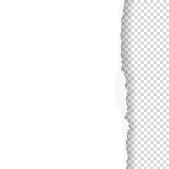 Papel rasgado com borda rasgada