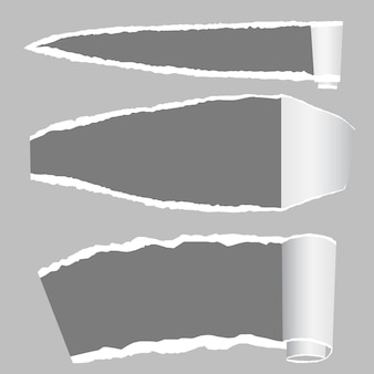 Papel rasgado com bordas rasgadas e espaço para texto.
