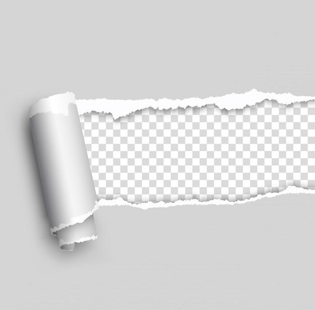 Papel rasgado, em camadas