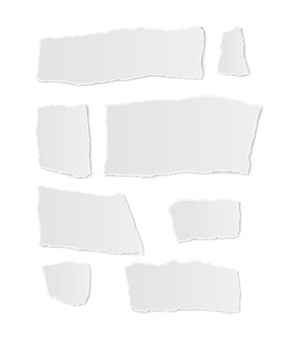Papel rasgado no fundo branco