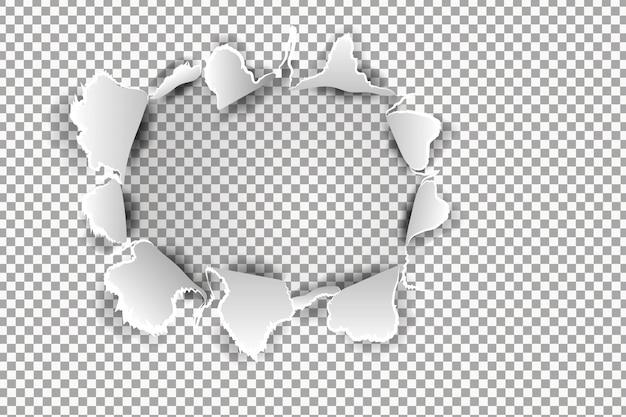 Papel rasgado realista com bordas rasgadas. modelo de banner para web e impressão, promoção de venda, publicidade, apresentação. conceito de papel rasgado danificado