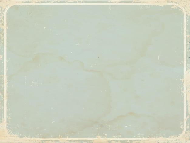 Papel retro azul com moldura com cantos arredondados