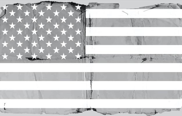 Papel velho bandeira dos eua