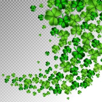 Papel verde, corte, são, patrick, dia