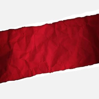 Papel vermelho amassado