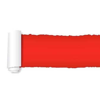 Papel vermelho rasgado