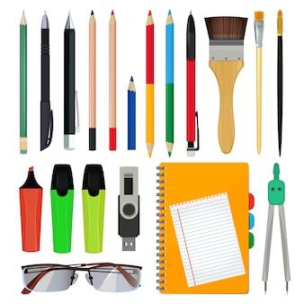 Papelaria de escritório ou equipamento escolar.