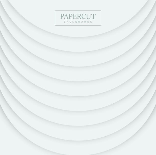 Papercut elegante forma círculo onda fundo