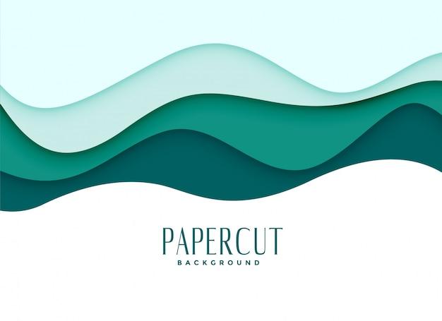 Papercut fundo em estilo ondulado