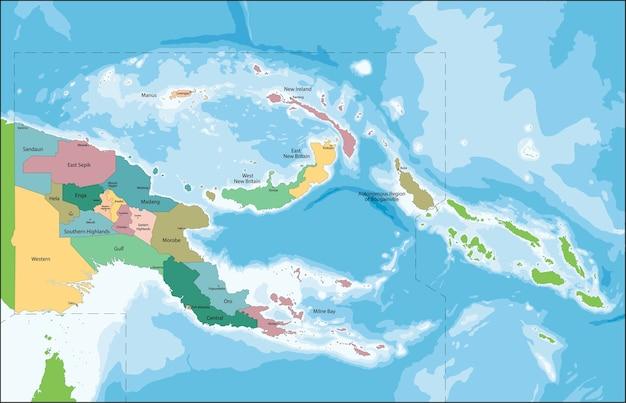 Papua nova guiné mapa