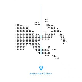 Papua nova guiné pontilhada mapa vector design