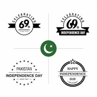 Paquistão emblemas dia da independência