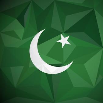 Paquistão fundo geométrico