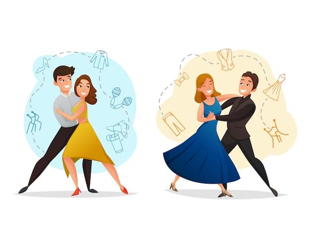 Par dança 2 conjunto de modelos