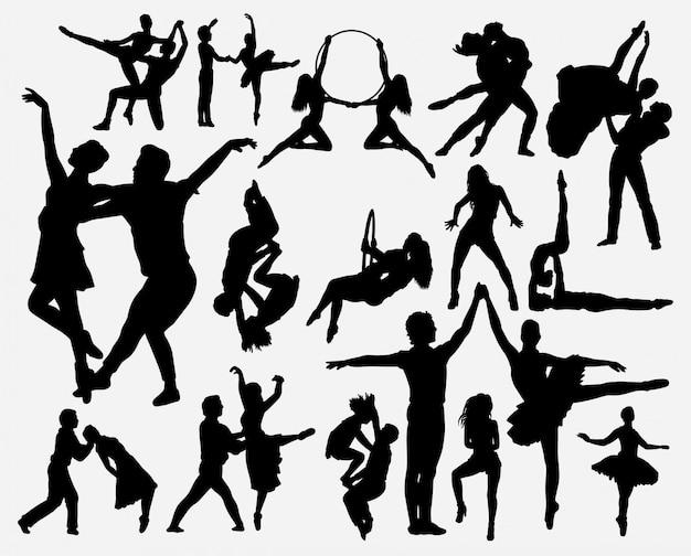 Par, dança, silueta