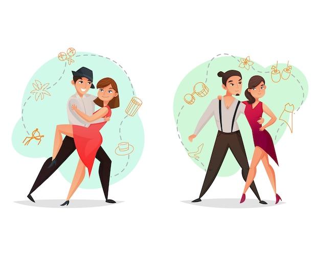 Par dance 2 conjunto de modelos