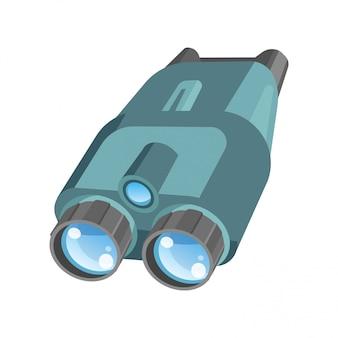 Par de binóculos com zoom poderoso e lentes brilhantes