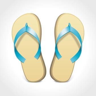 Par de flip-flops isolados