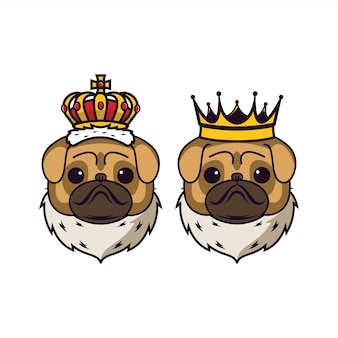 Par de rei bulldog e rainha bulldog