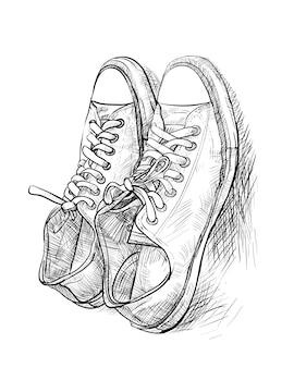 Par de sapatos casuais