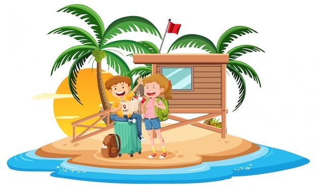 Par, ilha, férias