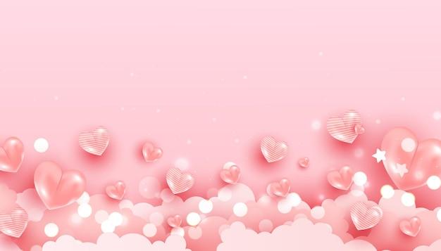 Para design de banner romântico.