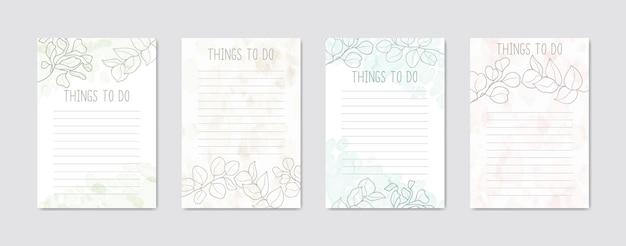Para fazer a coleção de listas com fundo floral colorido abstrato