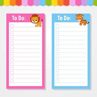 Para fazer a lista para crianças.