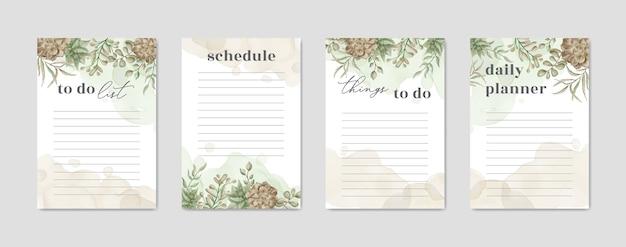 Para fazer papel de lista com aquarela planta floral