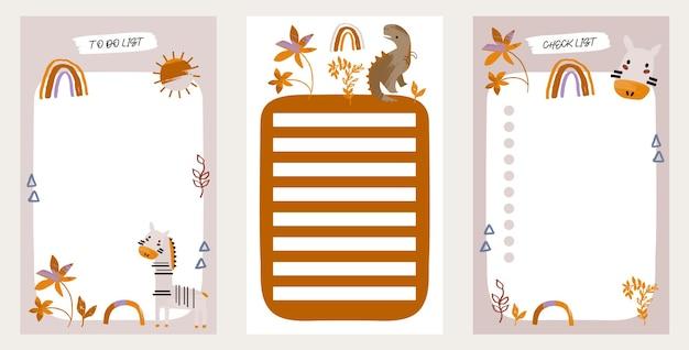 Para fazer uma lista definida com elementos de primavera para crianças para a agenda