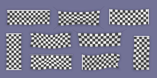 Para iniciantes, banners de vinil com acabamento e xadrez com dobras